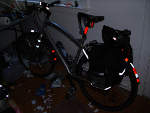 Reflective Tape on a Bicycle