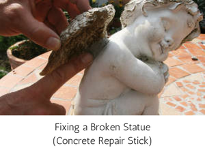 Epoxy Putty Repair Stick Concrete - Fixing a Broken Statue
