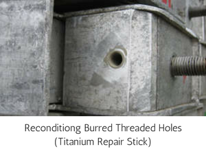 High Temperature Epoxy Putty Repair Stick Titanium - Reconditiong Burred Threaded Holes