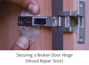 Epoxy Repair Stick Wood - Securing a Broken Door Hinge
