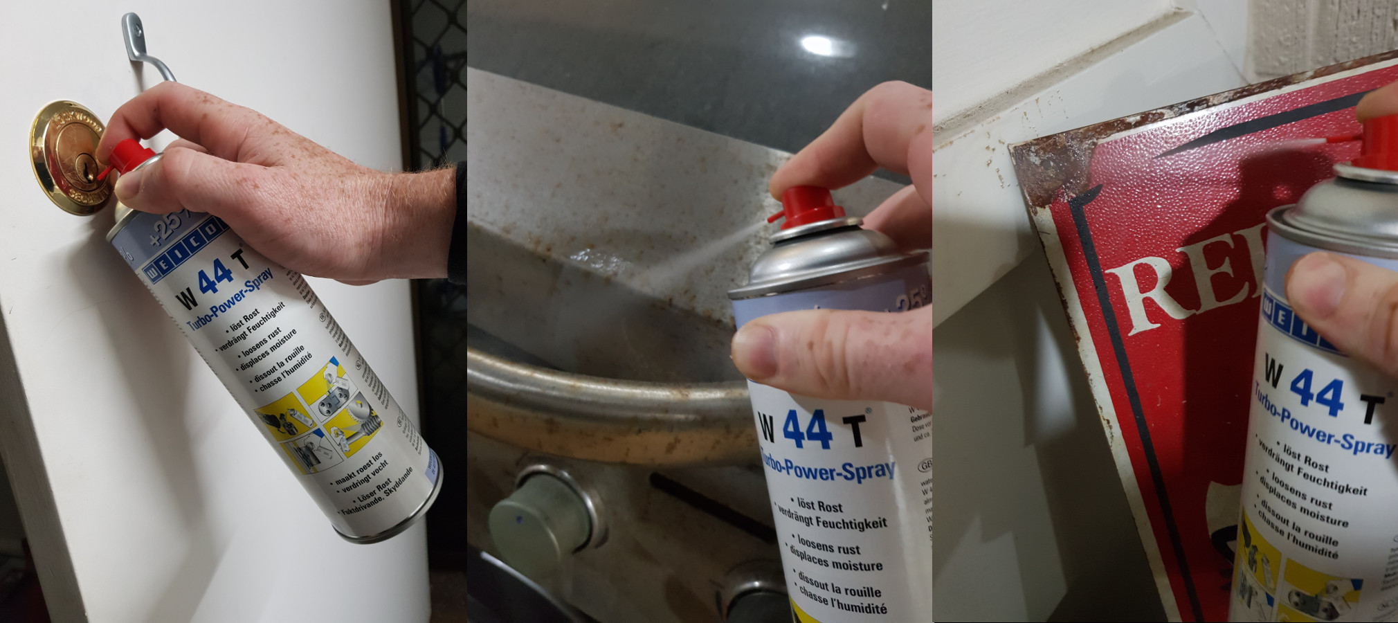 Different uses for W44T penetrating oil spray as a replacement for WD-40
