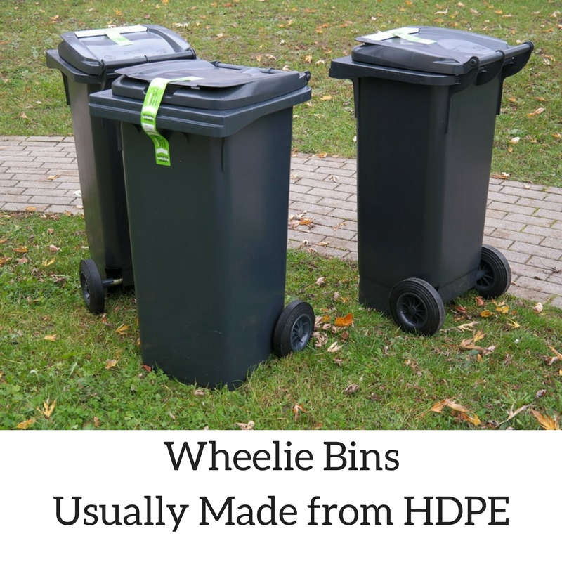 Wheelie Bins Usually Made from HDPE