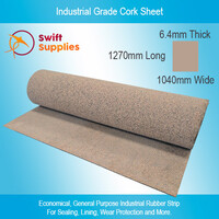 Industrial Cork Sheet (Rubber Bonded) 6.4mm x 1040mm x 1270mm