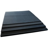 Neoprene Sponge Sheet (Black, Non-Adhesive) -  6mm Thick x  980mm x 980mm