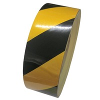 5007 Class 2 Striped Reflective Tape, Black/Yellow - 36mm x 45Mtrs (Engineering Grade)