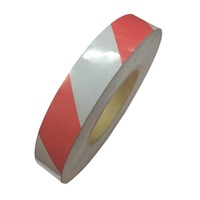 5007 Class 2 Striped Reflective Tape, Red/White - 48mm x  5Mtrs (Engineering Grade)