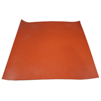 Silicone Rubber Pre-Cut Mat (Red, FDA)  2mm x  600mm Square (60 Duro)