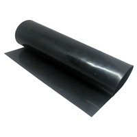 EPDM Rubber Sheet  2mm Thick x 1200mm Wide (Black, 60 Duro, Per Mtr)