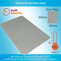 Silicone Bonded Mica Sheet  6mm Thick x  500mm X 600mm
