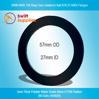 GKT,  20NB ANSI  150  Ring Face Gasket, 3mm Potable Water EPDM