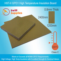 HST-II GPO1 High Temperature Insulation Board  0.8mm x 1200mm x 2400mm