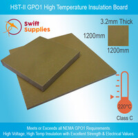 HST-II GPO1 High Temperature Insulation Board  3.2mm x 1200mm x 1200mm