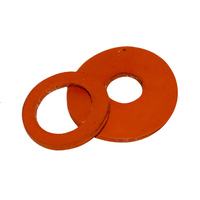 Red Silicone Washers - 0.8mm Thick, 25mm OD