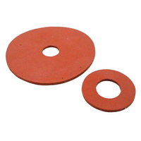 Red Silicone Washers - 3mm Thick, 30mm OD