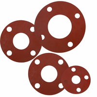 Red Silicone Rubber Gaskets to suit BS 3063 Flanges - Full Face